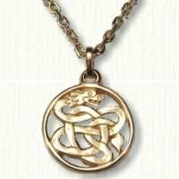 Pierced Celtic Dragon Pendant